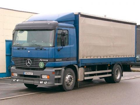 MB Actros MP I Spezial Dachspoiler / höhenverstellbar 660 - 880 mm
